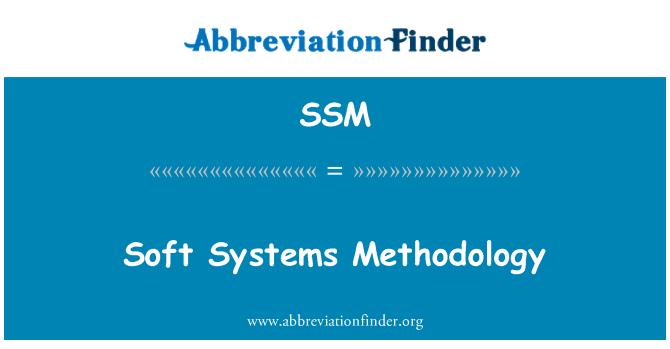 SSM: Soft Systems Methodology