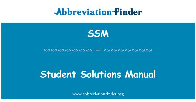 SSM: Manual del estudiante de soluciones