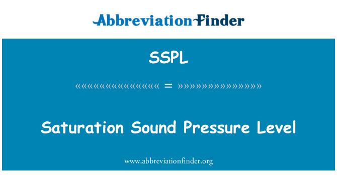 SSPL: Doygunluk ses basıncı seviyesi