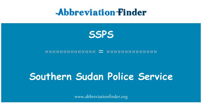 SSPS: Southern Sudan Police Service