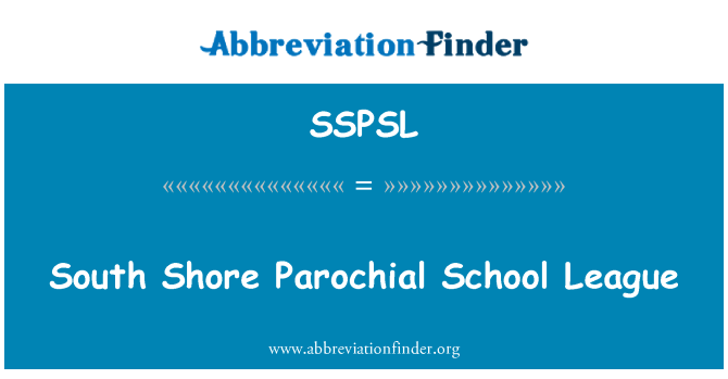 SSPSL: South Shore Parochial School League