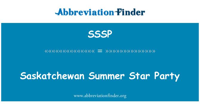 SSSP: Saskatchewan yaz Star Party
