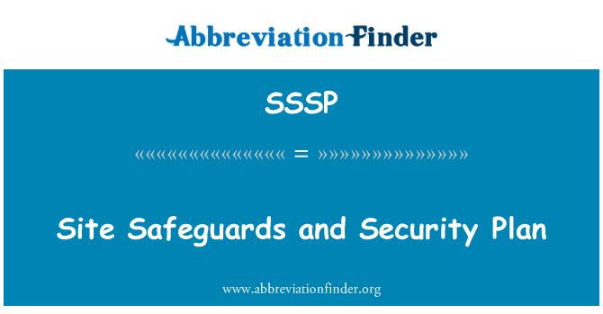 SSSP: Site koruma ve güvenlik planı