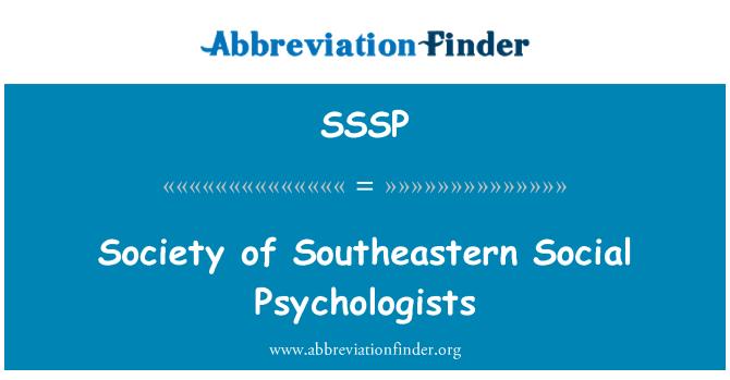 SSSP: Güneydoğu sosyal Psikologlar Derneği