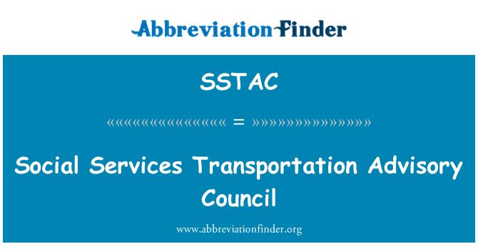 SSTAC: Social Services Transportation Advisory Council