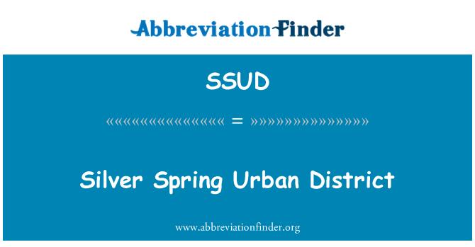 SSUD: Silver Spring Urban District