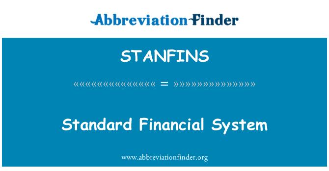 STANFINS: Estándar del sistema financiero