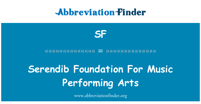SF: Serendib asas seni persembahan muzik