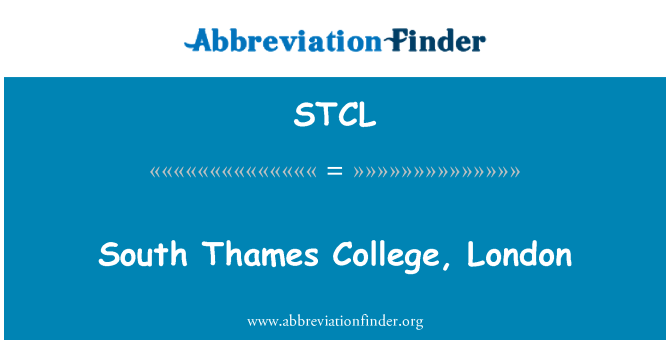 STCL: Güney Thames College, Londra