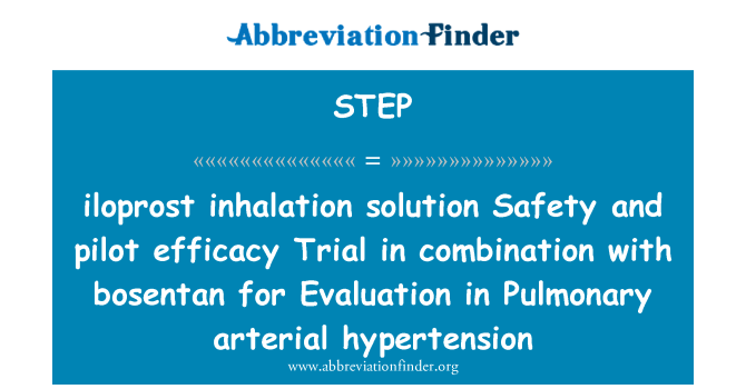 STEP Definición: solución para inhalación Iloprost..