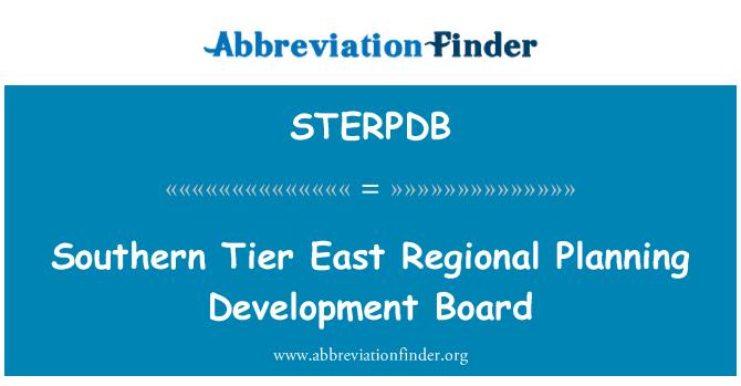 STERPDB: Southern Tier East Regional Planning Development Board