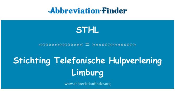 STHL: Stichting Telefonische Hulpverlening Limburg