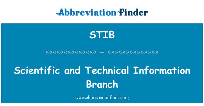 STIB: Scientific and Technical Information Branch