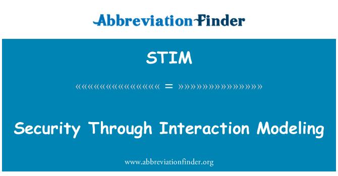 STIM: Seguridad mediante modelos de interacción