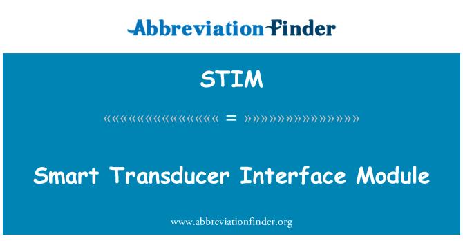 STIM: Módulo de interfaz inteligente del transductor