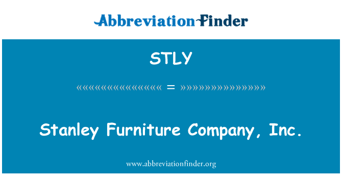 STLY: Stanley mobilya şirketi A.ş.