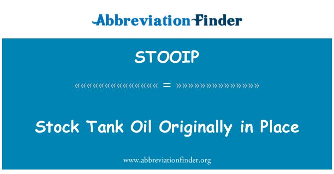 STOOIP: Stock tanque aceite originalmente en sitio