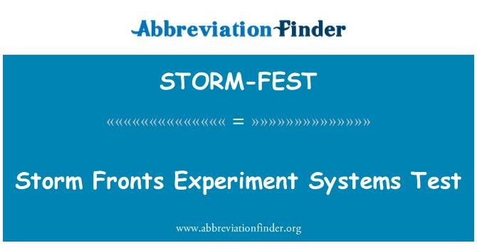 STORM-FEST: Ribut bidang percubaan sistem ujian