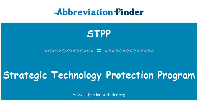 STPP: Stratejik teknoloji koruma programı