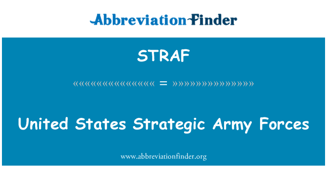 STRAF: United States Strategic Army Forces