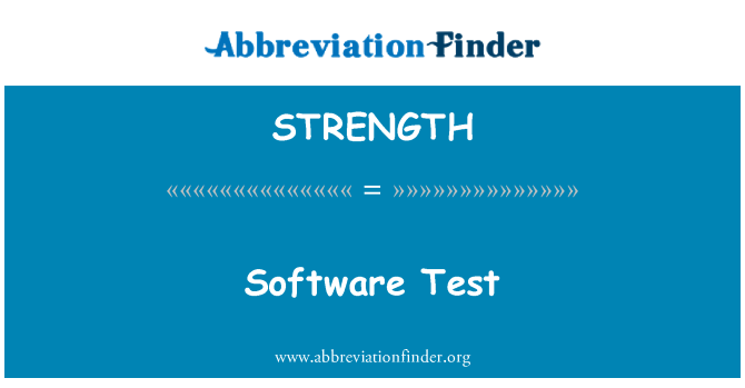 STRENGTH: 软件测试