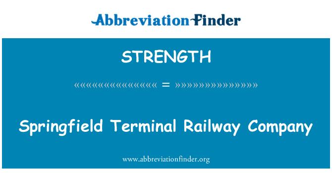 STRENGTH: Springfield terminali kolejowych firmy