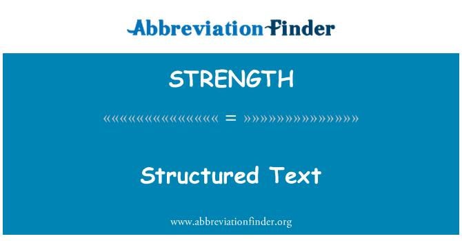 STRENGTH: 结构化的文本