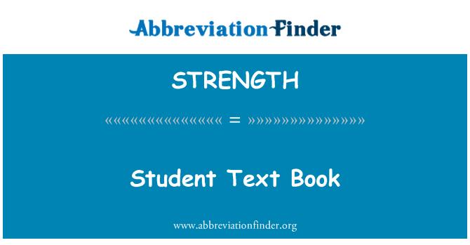 STRENGTH: Üliõpilane oppikirjasta