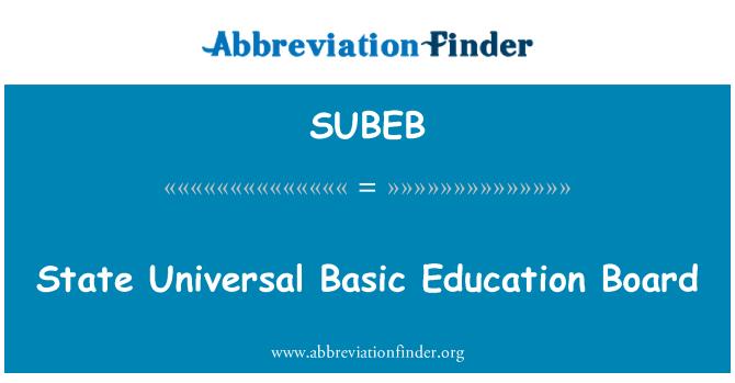 SUBEB: State Universal Basic Education Board
