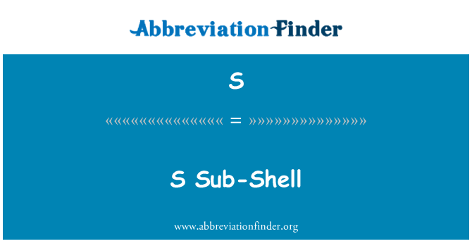 S: Sub-carcasa S
