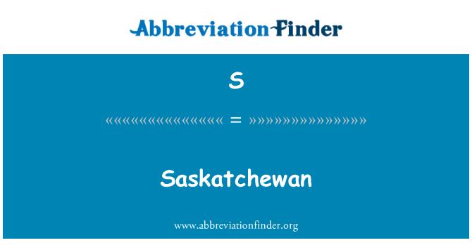S: Saskatchewan