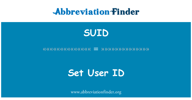 SUID: Set User ID