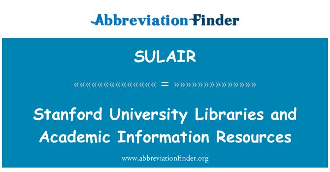 SULAIR: Las bibliotecas de la Universidad de Stanford y recursos de información académica