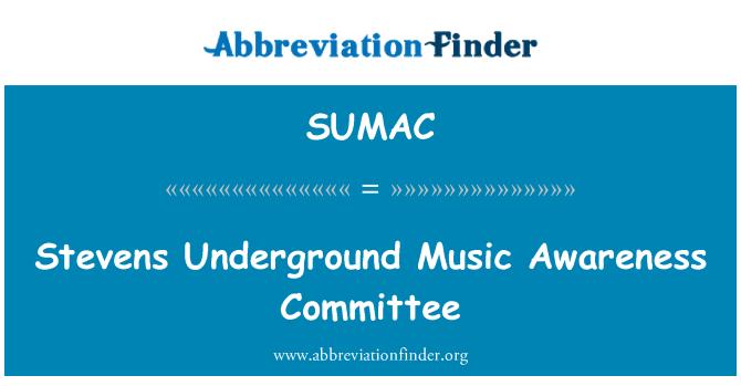 SUMAC: Stevens Underground Music Awareness Committee