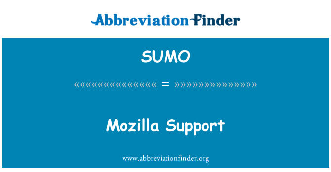 SUMO: Mozilla tugi