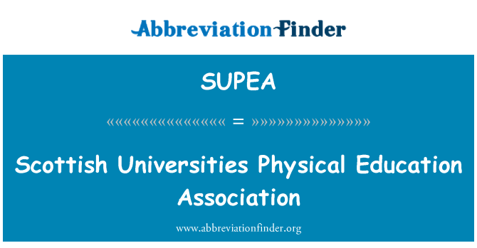 SUPEA: Scottish Universities Physical Education Association