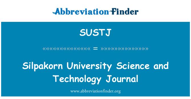 SUSTJ: Silpakorn University Science and Technology Journal
