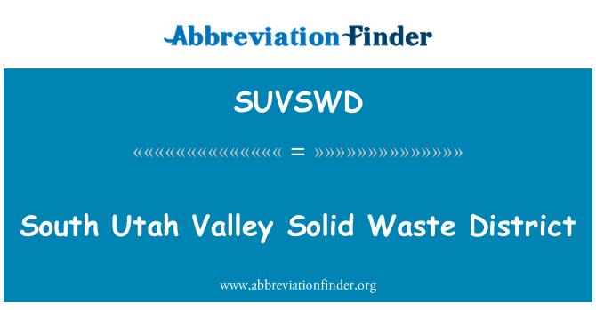SUVSWD: South Utah Valley Solid Waste District