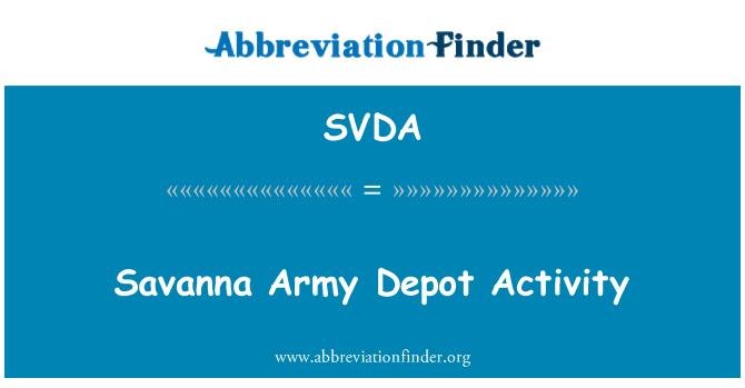 SVDA: Savanna Army Depot Activity
