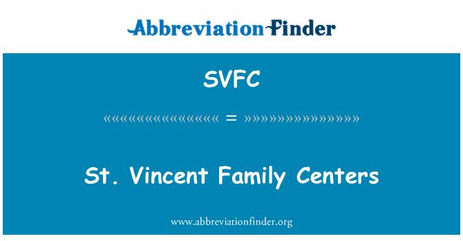 SVFC: St. Vincent Family Centers