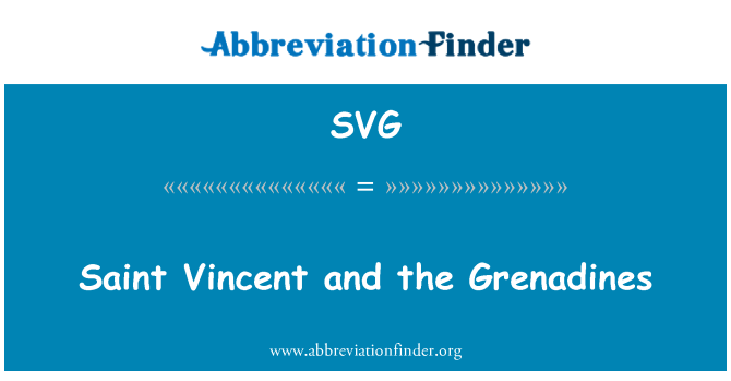SVG: Saint Vincent and the Grenadines