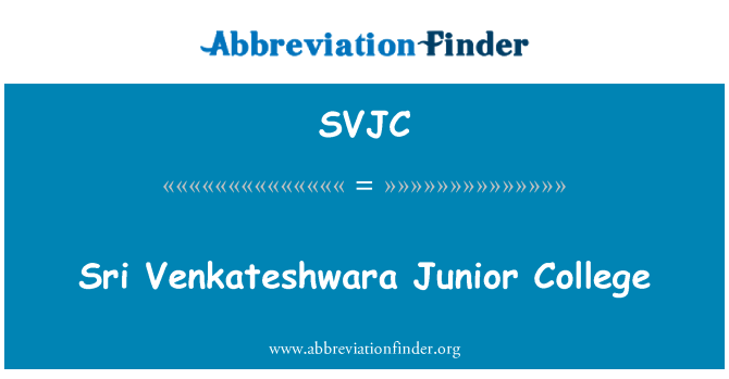 SVJC: Sri Venkateshwara Junior College