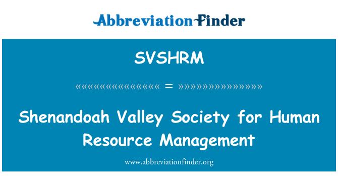 SVSHRM: Shenandoah Valley Society for Human Resource Management