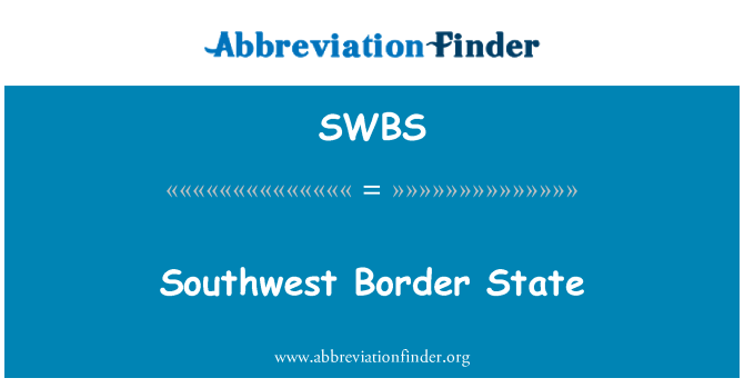 SWBS: Güneybatı sınır durumu