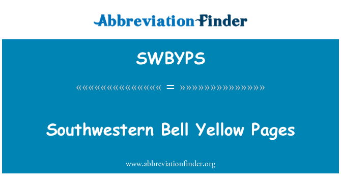 SWBYPS: Southwestern Bell Yellow Pages