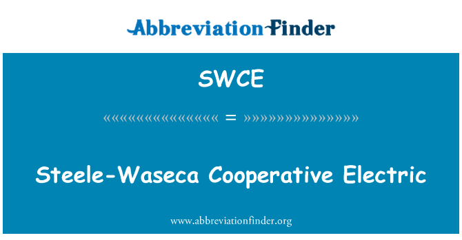 SWCE: Steele-Waseca Cooperative Electric