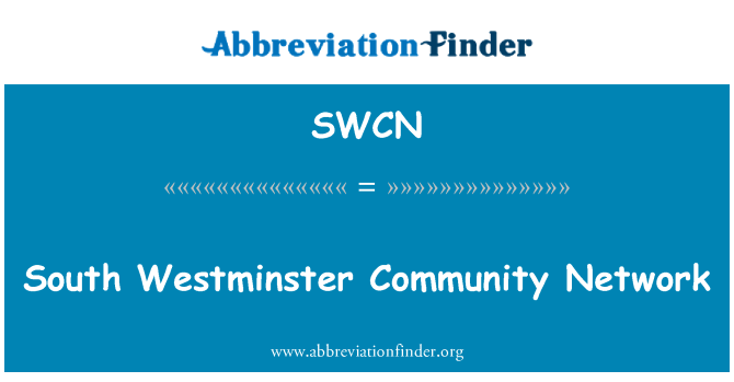 SWCN: South Westminster Community Network