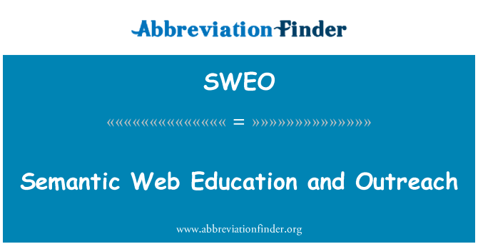 SWEO: Semantic Web Education and Outreach