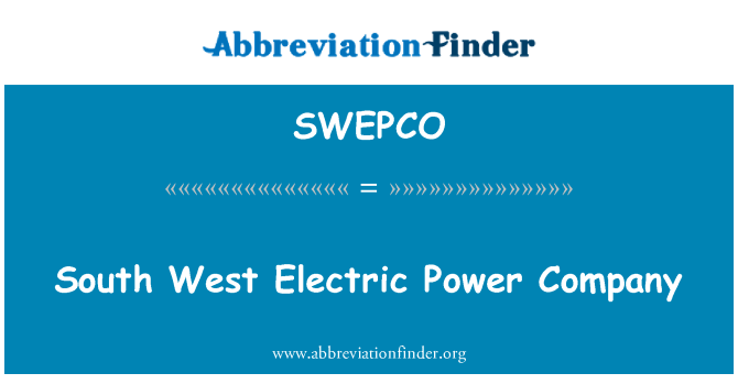 SWEPCO: South West Electric Power Company