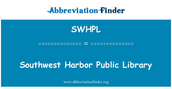 SWHPL: Southwest Harbor Public Library